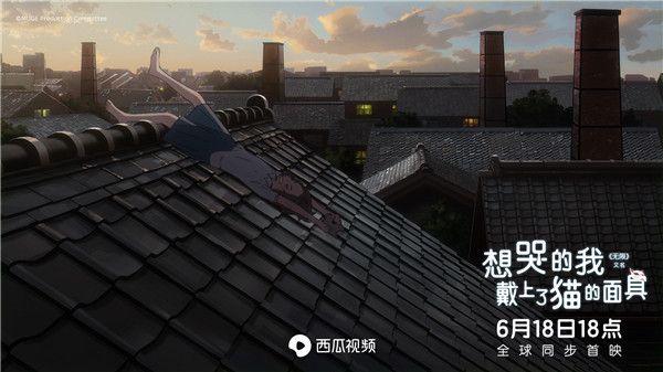 美代握着猫咪面具躺在屋顶上.jpg