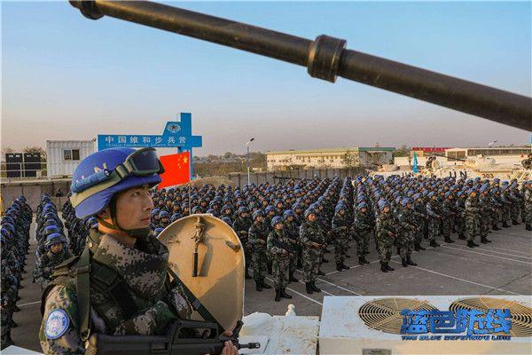 2、中国维和步兵营组织宣誓仪式.jpg